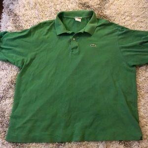 Lacoste Mens Pique Polo Green Size 8 XL